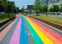 The Netherlands just unveiled the longest rainbow bike path in the world